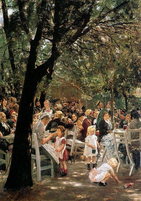 Пивной сад в Мюнхене. Макс Либерман