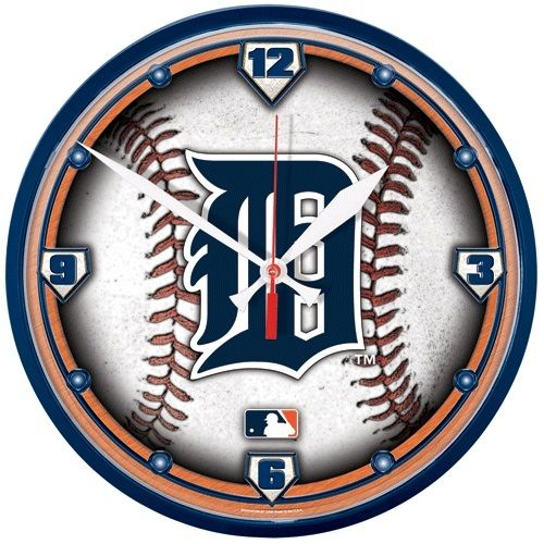 Detroit Tigers Baseball Wall Clock
