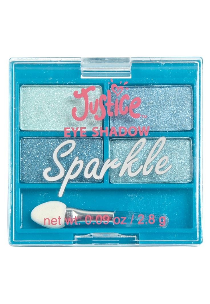 4 Piece Sparkle Eyeshadow Palette (original price, $4.90) available at #Justice