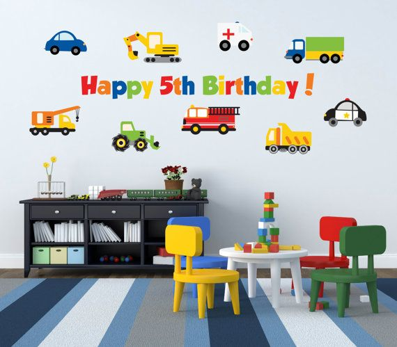 Truck Birthday Party  Boy Birthday Party Decorations by YendoPrint