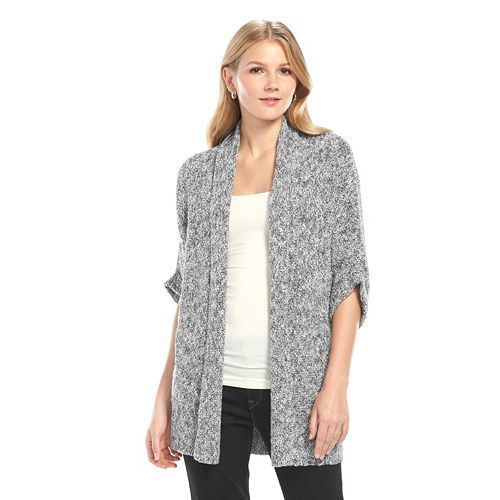 SONOMA life + style Dolman Open Front Cardigan - Women's/Color: Pristine