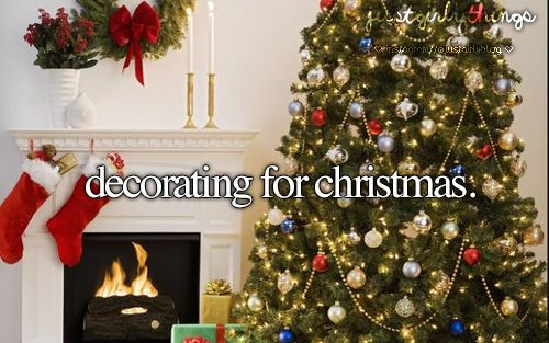 .I love decorating the house for Christmas!