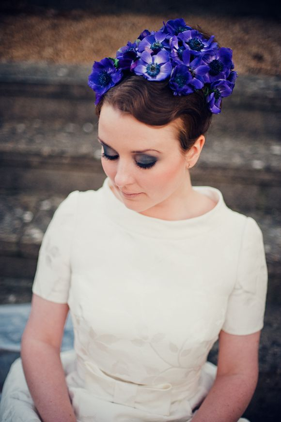 1960s inspired Floral Hair