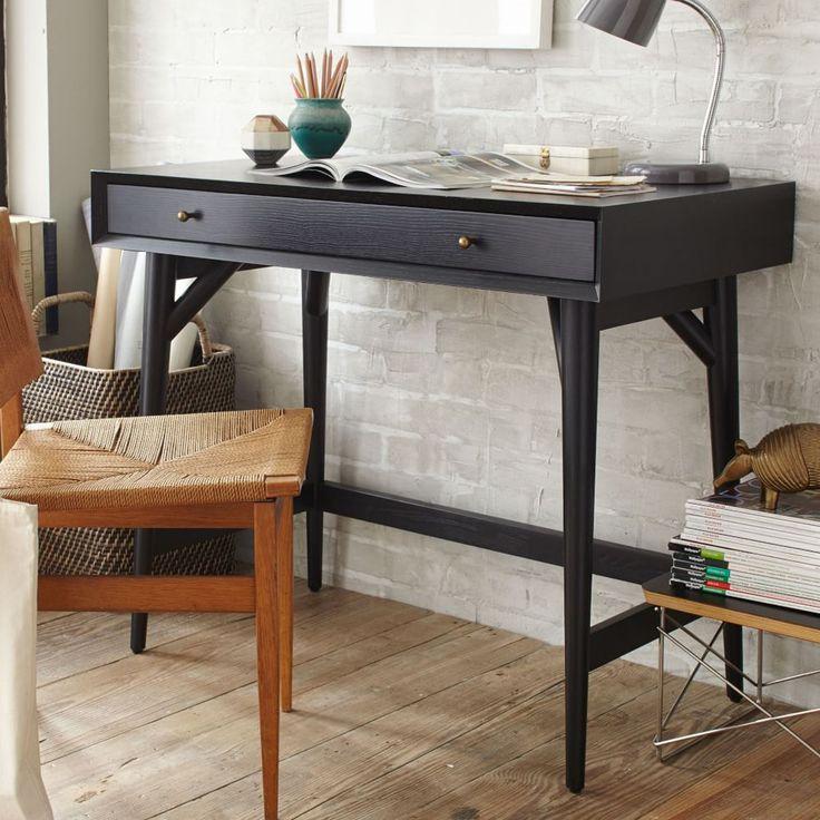 Mid-Century Mini Desk – Black