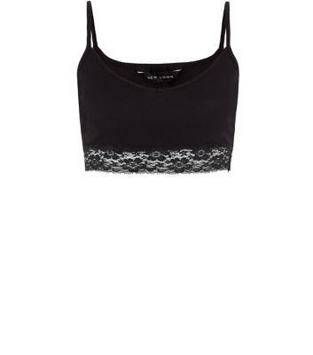 Black Lace Hem Bralet