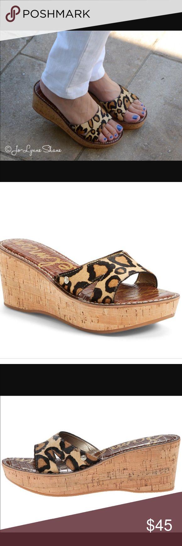 Sam Edelman Reid Leopard Sandal Never worn trendy Sam Edelman Leopard sandals Sam Edelman Shoes Sandals