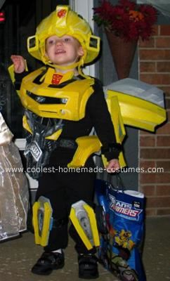 Bumblebee Trick or Treating: My 3 yr. old son loves Bumblebee the Transformer, so my wife and I started looking in stores for a Bumblebee Transformer Halloween costume to buy, only