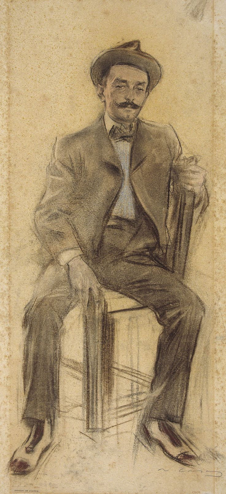 Celestí Galceran by Ramon Casas i Carbó (Catalan/Spanish 1866-1932)