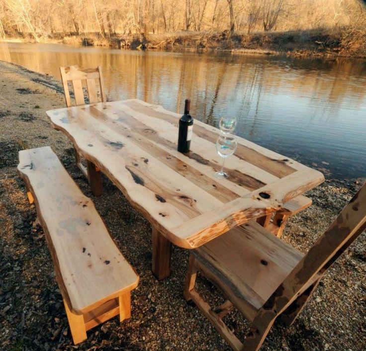 estupendo conjunto de muebles de madera
