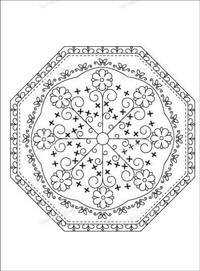 Mandala 2 Hand Embroidery PDF Pattern by DisorderlyStitches