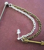 Check out LoveItSoMuch.com to discover unique products like Industrial Piercing Barbell Bronze Arrow Head Upper Ear Cuff Chain Dangle Charm 14g 14 G Gauge Bar Jewelry.