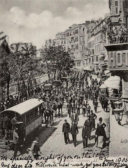 Postcard views of Beyoglu / Pera