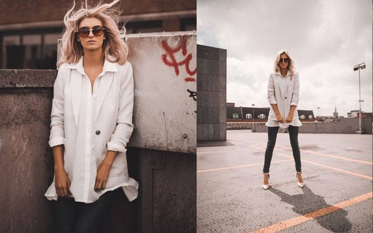 http://www.iclothing.com/features/lookbooks/summer-in-the-city #iclothing #streetstyle #oversized #blazer #style