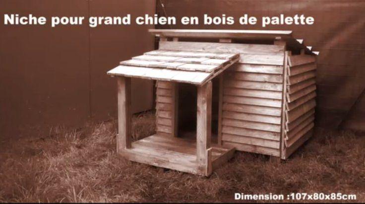 Construire une niche pour chien en palette niche pinterest for Construire sa maison en palette