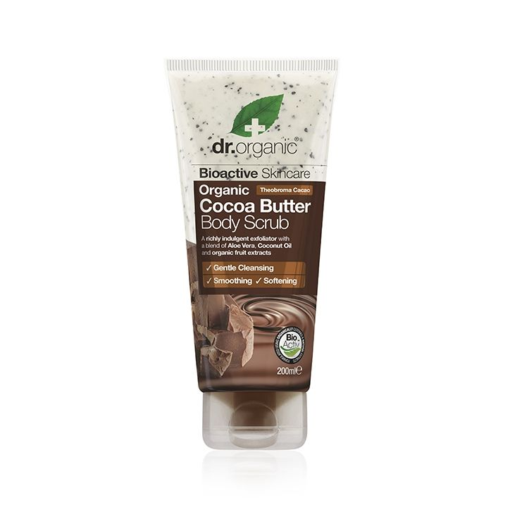 Dr Organic Cocoa Butter Body Scrub 200ml Cocoa Butter Body