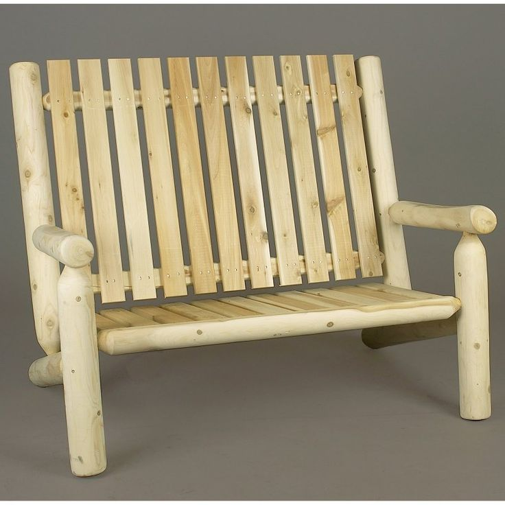 Outdoor Rustic Natural Cedar Furniture 4 Ft. High Back Settee   010006BCC