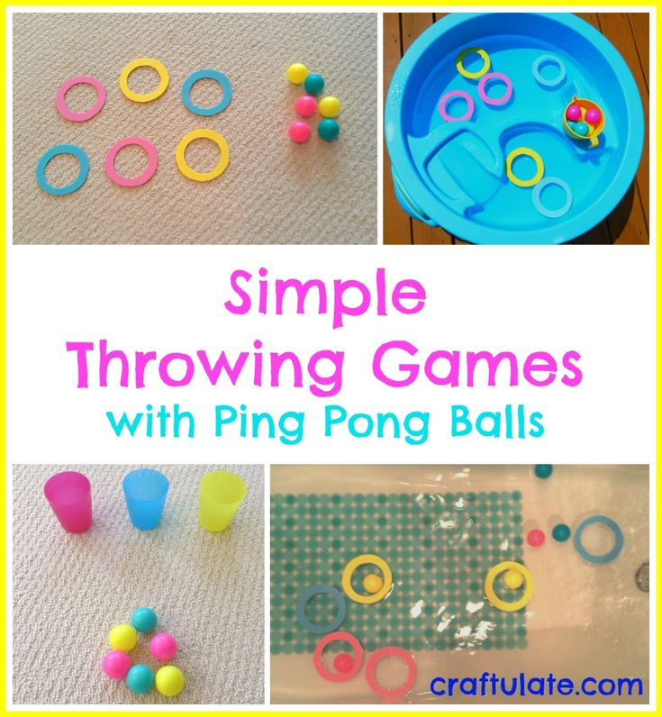 Simple Throwing Games with Ping Pong Balls - Craftulate