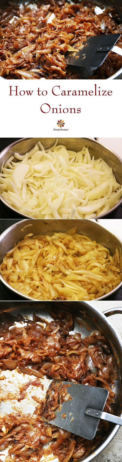 Caramelized onions add magic to any dish that uses onions. Here's an easy tutorial on how to make them! On SimplyRecipes.com