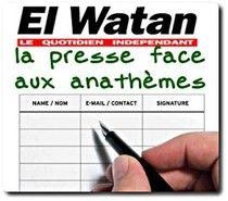 El-Watan ciblé par une pétition de censure http://www.argotheme.com/organecyberpresse/spip.php?article2135