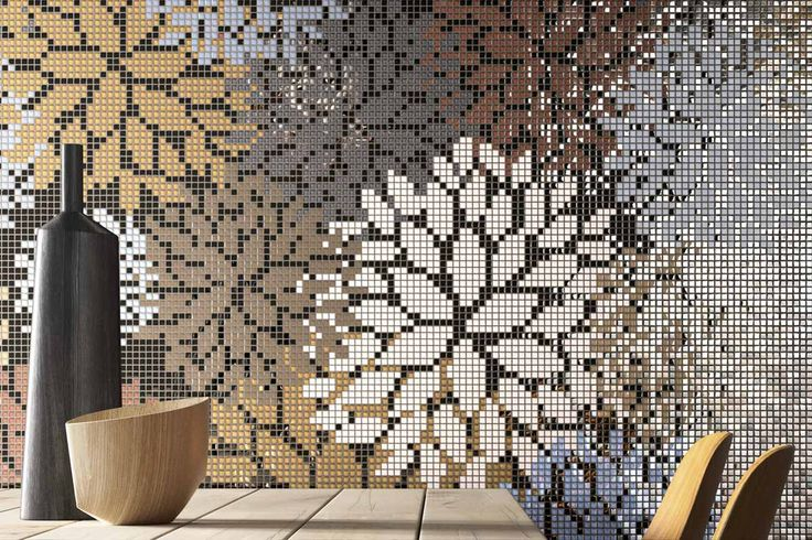 Mosaico+ Decor Collection - Florilège Red  #mosaicopiu #glass #mosaic #vetro #mosaico #flowers #decoration #interior #design #madeinitaly