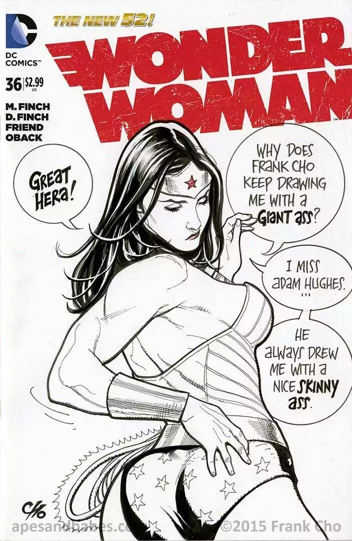 Wonder Woman sketch cover by Frank Cho