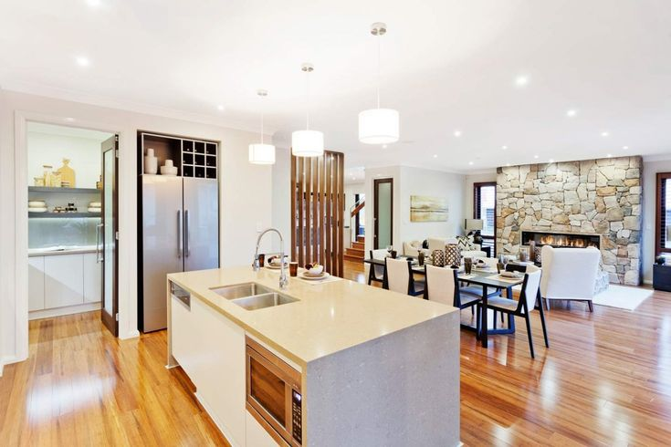 Huntingdale Home Design by McDonald Jones. Exclusive to Canberra. Gourmet Kitchen and dining room. #kitchen #dining #luxuryhome #mcdonaldjones #Canberra #ACT