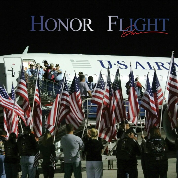 Honor flight Welcome home celebration for WWII Vets