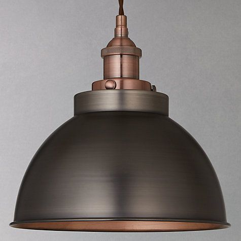 Buy John Lewis Baldwin Pendant Ceiling Light, Pewter/Copper Online at johnlewis.com