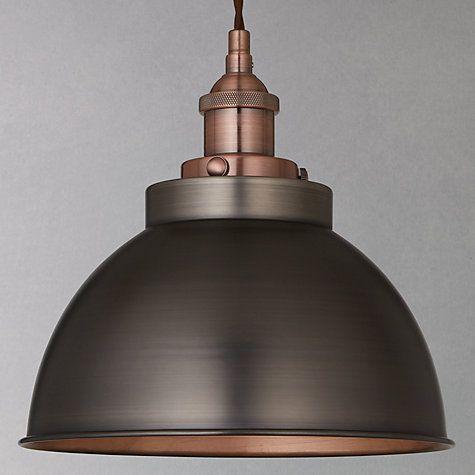 Buy John Lewis Baldwin Pendant Ceiling Light, Pewter/Copper Online at johnlewis.com