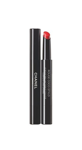 Chanel Rouge Coco Stylo Complete Care Lipshine in Histoire, $37.