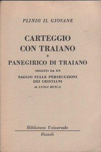 Amazon.it: Scelte d'acquisto: Carteggio di Traiano e Panegirico di Traiano
