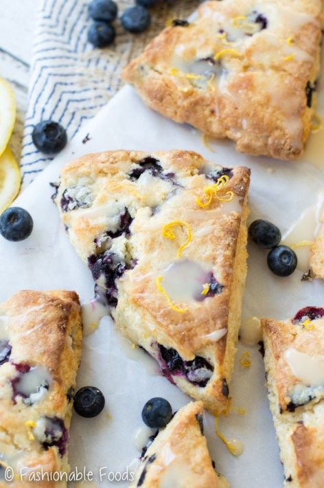 Fresh summer blueberries take center stage in these tasty scones. Topped with a lemon glaze, you won't be able to resist my blueberry lemon scones!    *These scones are gluten-free, but if you don't need them to be, check the recipe notes to make them with traditional wheat flour!