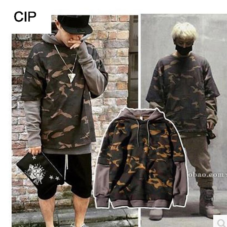 2017 New Fashion Autumn Mens Hoodies Camouflage Soldiers Patchwork Full Length False Two Hooded Men Keep Warm Open The Air X544