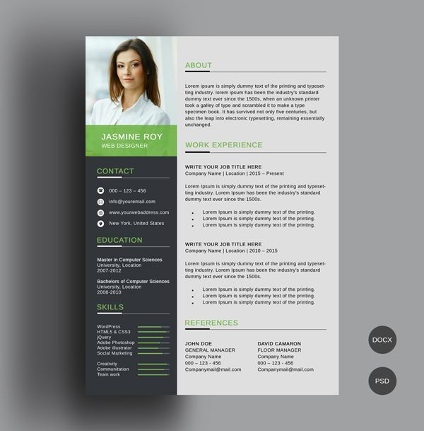 50 Free Cv Resume Templates Best For 2019 Graphic Elements Free Resume Template Download Creative Resume Template Free Resume Template Professional