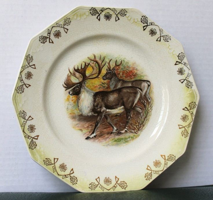 Vintage Limoges China Plate with Reindeer by THEAUCTIONGIRLS & 85 best Dinnerware images on Pinterest | Dishes Dish sets and Place ...