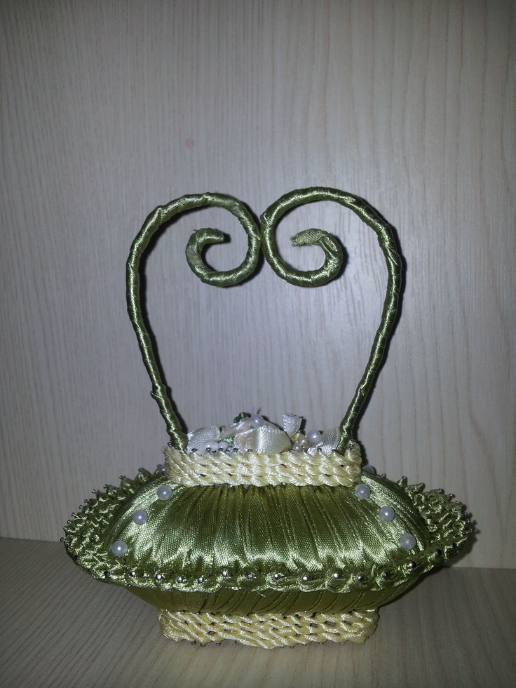 Small basket decoration ( made out of soap) - available online at www.luxuryparadise.eu
