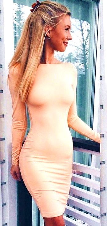 #summer #hot #weather #outfitideas Apricot Little Dress  - more on http://ift.tt/2rynWxj