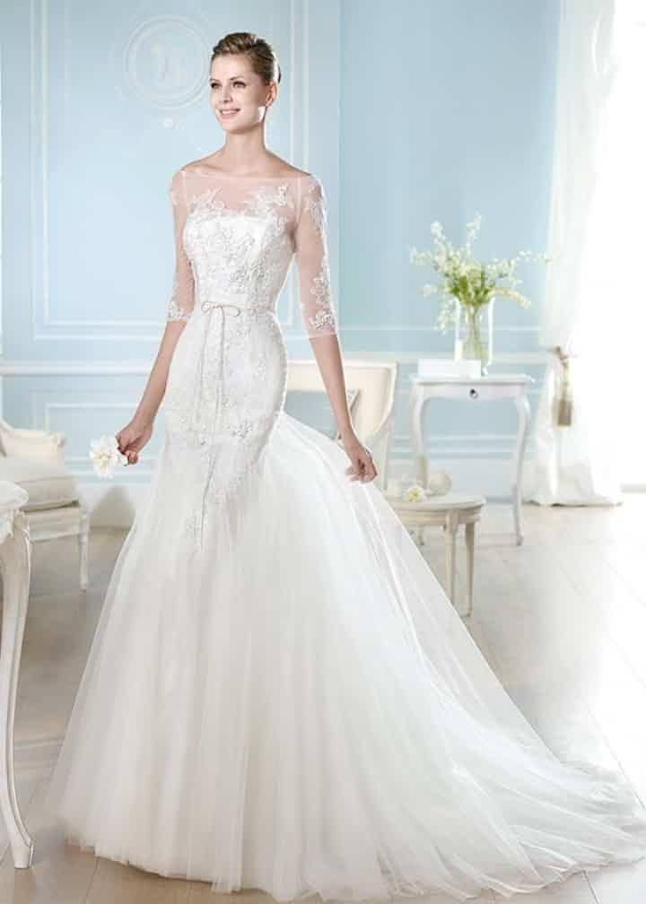 Nouvelle robe publiée!  San Patrick mod. Haitzze. Pour seulement 1200€! Economisez 45%! http://www.weddalia.com/fr/boutique-vendre-robe-de-mariee/san-patrick-mod-haitzze/ #RobesDeMariée www.weddalia.com/fr