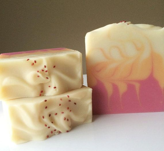 Handmade Soap Sweet Magnolia and Orange Blossom- Cold Process Coconut Milk Soap with Mango and Cocoa Butter