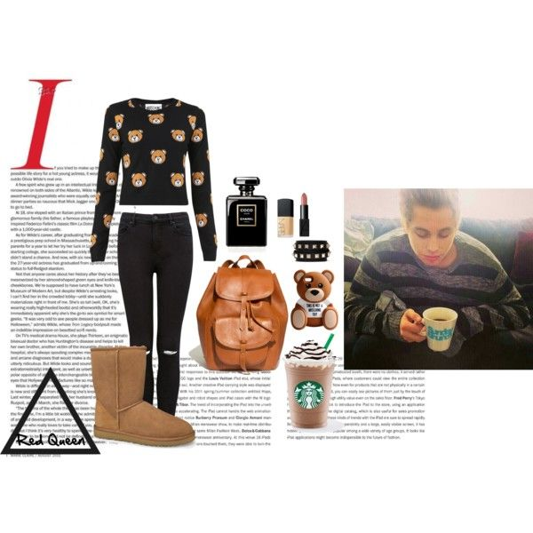Luke by elleonora-scarlat on Polyvore featuring Moschino, Forever New, UGG Australia, Madewell, Valentino and NARS Cosmetics