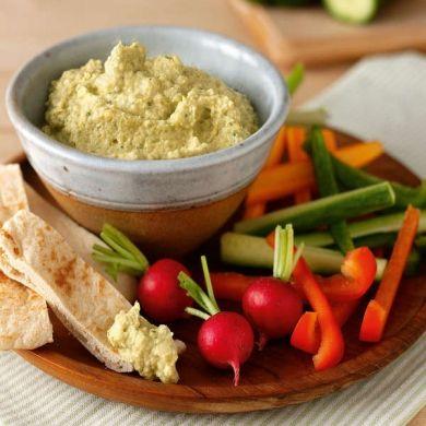 Lemon, Coriander & Green Olive Hummus  #Vitamix