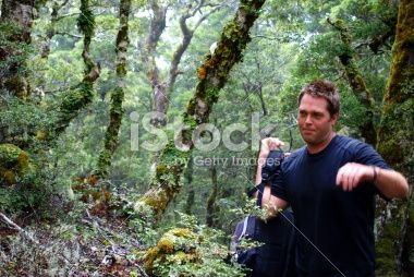Tramper, Kahurangi National Park, New Zealand Royalty Free Stock Photo