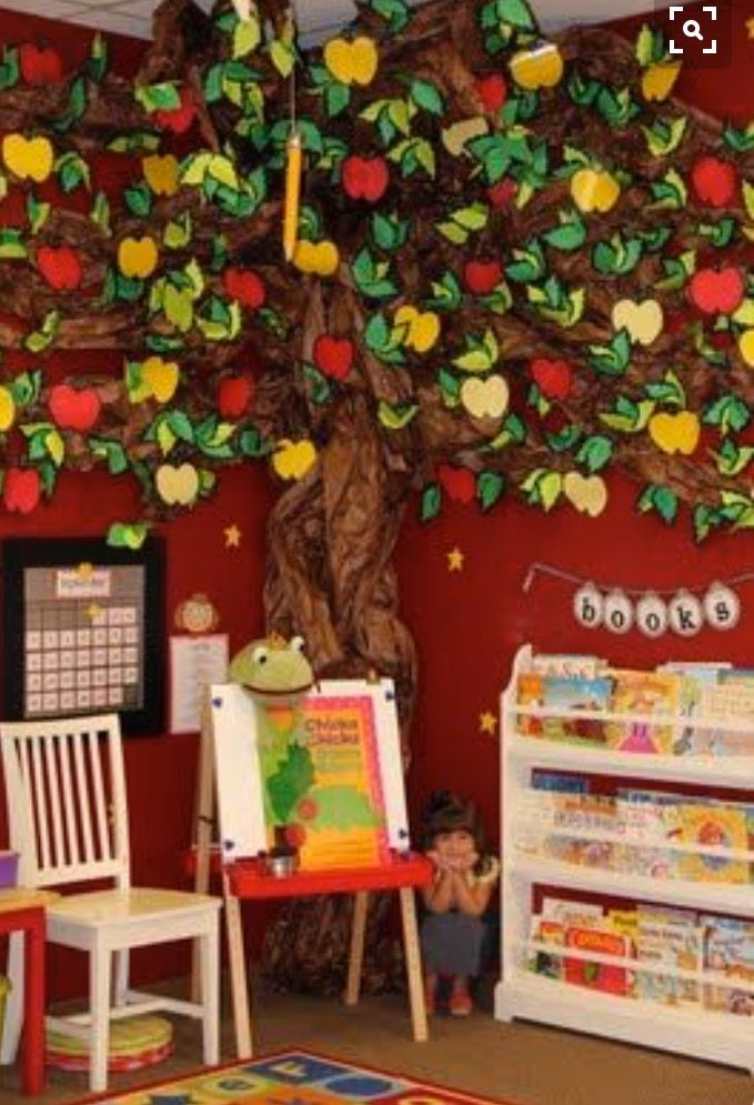 Classroom Tree Ideas ~ Can vary decorations according to seasons teaching