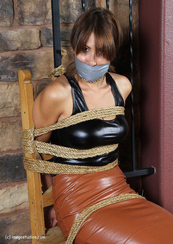 Damsel in distress chair tied …