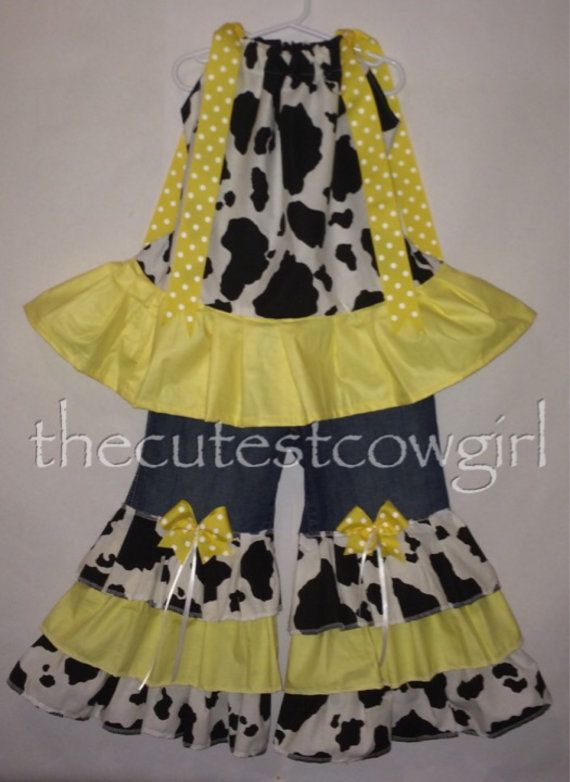 Boutique Custom Girls Baby 3 6 12 18 24 M 2 3 by TheCutestCowgirl