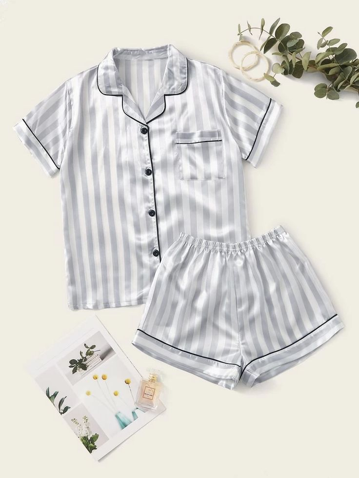 Satin Pj Set, Satin Pyjama Set, Satin Cami, Satin Pajamas, Silk Pj Set, Cute Pajama Sets, Pj Sets, Pajama Outfits, Cute Outfits