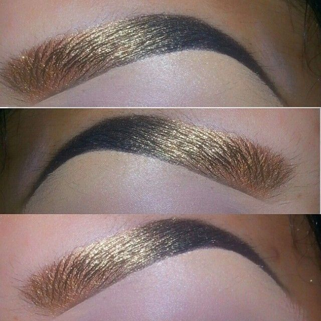 Awwweshumm inspired gold to black #brows by @tialacakeface, found browsing #queenofblending tag! Her eye #makeup game is seriously sick, too...