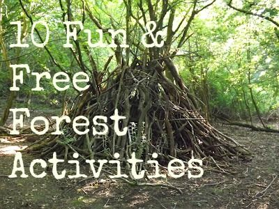 Free Forest Fun Activities - take shelter from the heat in the shade of the woods!