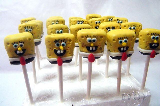 Sponge Bob Pop's: Ball Cakepinscom, Cakepops A K A Parties, Birthday Parties, Sponge Bob, Parties Ideas, Bobs Pop, Spongebob Cakes Pop, Spongebob Cakepops, Spongebob Squarepants