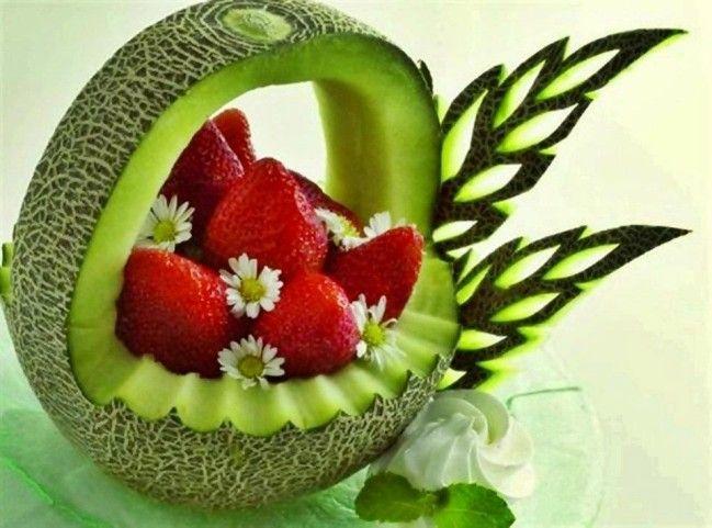 17 meilleures images propos de decorations avec fruits for Decoupe fruit decoration